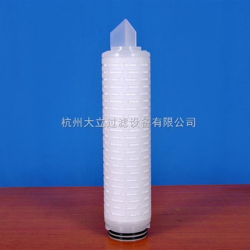除菌级亲水性PTFE折叠滤芯