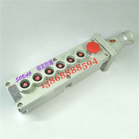 BA5817-4K带急停防爆电动葫芦按钮BA5817-6K