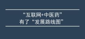 """""""互联网+中医药""""有了""""发展路线图"""""""