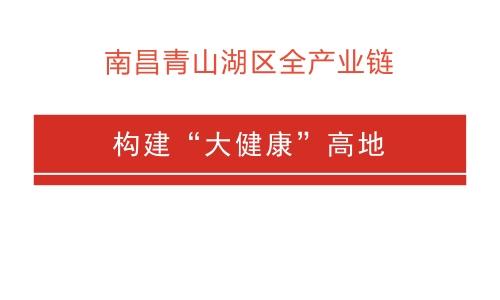 """南昌青山湖区全产业链 构建""""大健康""""高地"""